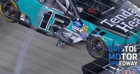 Sauter with damage after contact with Nemechek at Bristol