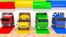 Learn Colors with Garage Sand Toy Playground and Street Vehicle Finger Family Song for Kids