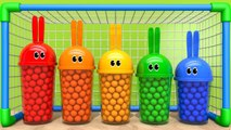 Learn Colors with Bunny Mold Sand Toy Playground and Soccer Ball Finger Family Song for Kids