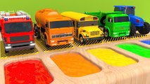 Learn Colors with Street Vehicle Sand Toy Playground and Garage Magic Liquids for Kids Children