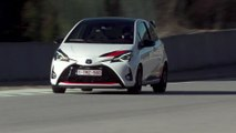 Toyota Yaris GRMN Driving on the track