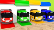 Learn Colors with Toy Bus Sand Toy Playground and Garage Ball Bath Time for Kids Children