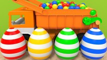 Learn Colors with Wild Animal and Toy Truck Colored Pipe Sand Playground for Kids Children