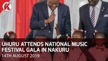 UHURU ATTENDS MUSIC FESTIVAL GALA IN NAKURU