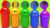 Learn Colors with Bunny Mold and Color Shape Pipe Sand Playground for Kids Children