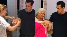 Salman Khan celebrates Rakhi with Bina Kak & her family | FilmiBeat