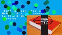 Full E-book  Fox and McDonald's Introduction to Fluid Mechanics  Review