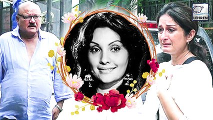 Celebs At Veteran Actress Vidya Sinha's Last Rites