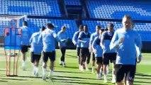 Mouriño presencia el último entrenamiento del Celta antes del debut ante el Real Madrid