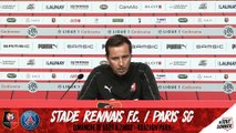 J2. Stade Rennais F.C. / PSG : Conférence de Presse