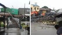 Reißender Fluss zerstört Brücke
