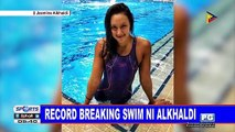 Record breaking swim ni Alkhaldi
