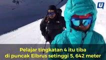 Pelajar wanita termuda tawan puncak Gunung Elbrus