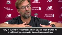 (Subtitled) 'Fan slipped into Adrian's ankle' Klopp uncertain if stand-in keeper will start
