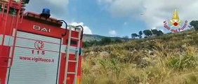 Sonnino (LT) - Ferragosto di fuoco con incendi boschivi (16.08.19)
