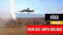 [CH] El dron que limpia los molinos de viento a 50 metros de altura