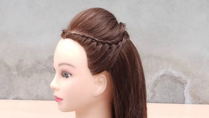 Unique Hairstyle For Girls New Hairstyle Beautiful Puff Hairstyle With Side Layers Braid Video Dailymotion