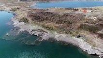 Sular Çekilince Ortaya Çıkan Köy Havadan Görüntülendi