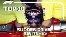 Top 10_ Sudden Driver Switches in F1