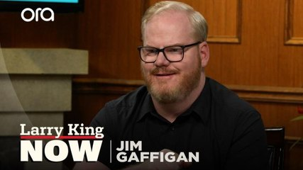 """It's too hard"": Jim Gaffigan jokes about challenges of parenthood"