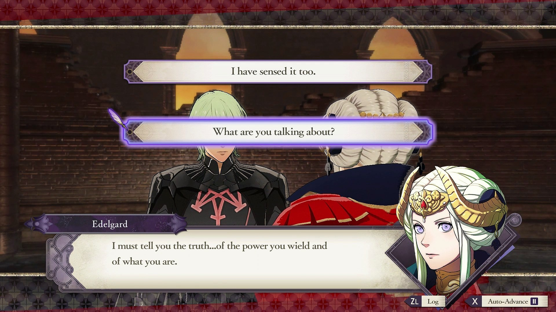Fire Emblem Three Houses - Chapter 18 To The End Of A Dream: Edelgard Tells Byleth He Shares the God