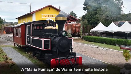 Maria Fumaça é restaurada em Viana