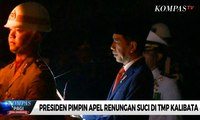 Presiden Jokowi Pimpin Apel Renungan Suci di TMP Kalibata