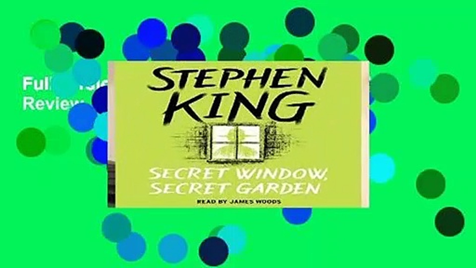 Full Version Secret Window Secret Garden Review Video Dailymotion