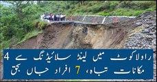 Heavy rains cause landslide in Rawalakot