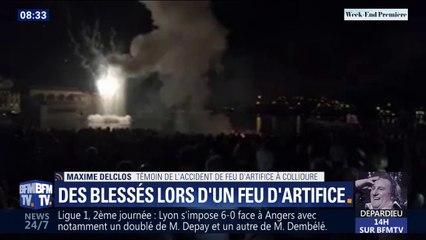 9 personnes blessées par une fusée de feu d'artifice à Collioure: un témoin raconte la scène