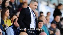 Falkirk and Montrose managers ' reaction