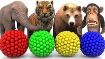 Aprende los colores y el sonido de los animales con un xilófono de martillo de madera para niños