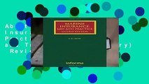 About For Books  Marine Insurance  Law and Practice (Maritime and Transport Law Library)  Review