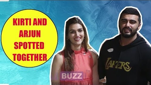 Kriti and Arjun spotted together at Sunny Super Sound