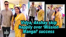 Vidya, Akshay skip happily over 'Mission Mangal' success