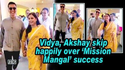 Vidya, Akshay skip happily over 'Mission Mangal' success