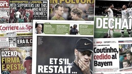 La déroute du Barça fait grand bruit en Espagne, la presse anglaise s'amuse de la blessure d'Adrian après le sacre de Liverpool