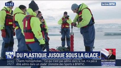 Sous la glace de l'Arctique, des scientifiques ont retrouvé des déchets plastiques