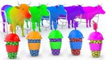 Aprende los Colores - Video Educativo - Aprende Animales con vacas y Bolas de colores para Niños