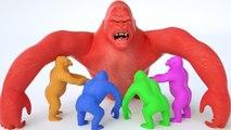 Aprende los colores y Animales con bebé divertidos Monos beben leche Juega Doh - Videos para Niños