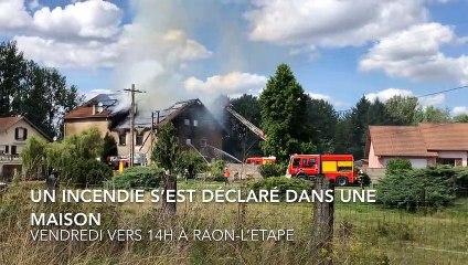 Retour sur l'incendie de Raon-l'Etape du vendredi 16 août