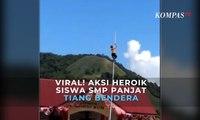 Viral! Aksi Heroik Siswa SMP Dulupi Panjat Tiang Bendera saat Upacara 17 Agustus