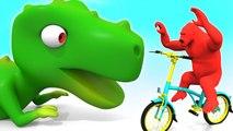 Aprende frutas y Animales con divertidos Monos jugando en el parque - Video Educativo para Niños