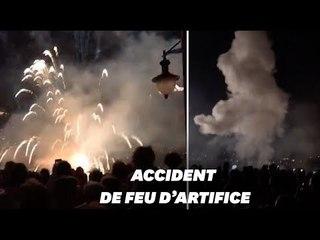 À Collioure, le feu d'artifice atterri dans la foule, neuf blessés