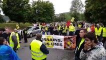 Démarrage de la manifestation des gilets jaunes à Longwy