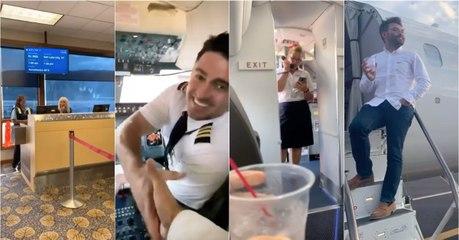 Passageiro vive experiência única durante voo comercial