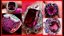 Beautiful And Stylish Ruby Diamond Engagement Wedding Rings Designs For Women - (2)