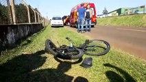 Homem fica em estado grave em acidente na marginal da BR-277, em Cascavel