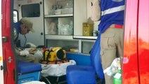 Rapaz de 21 anos fica ferido ao sofrer queda em rua em situação precária