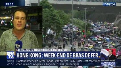 Hong Kong: les policiers anti-émeute sont intervenu à la fin de la soirée